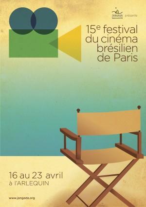 Affiche du 15e Festival du Cinéma brésilien de Paris